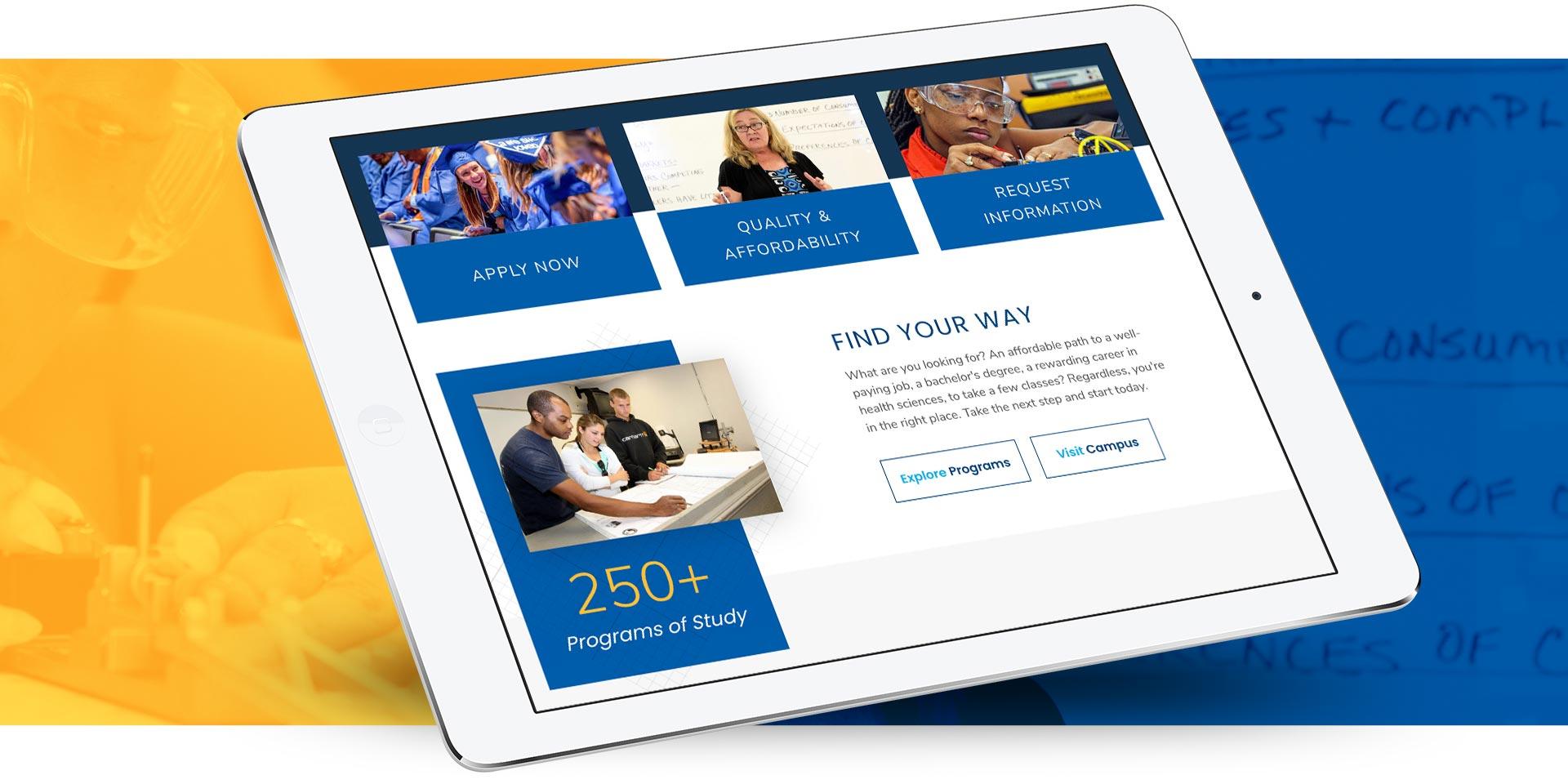 Cape Fear Community College - Website Design by Springer Studios, Wilmington, NC