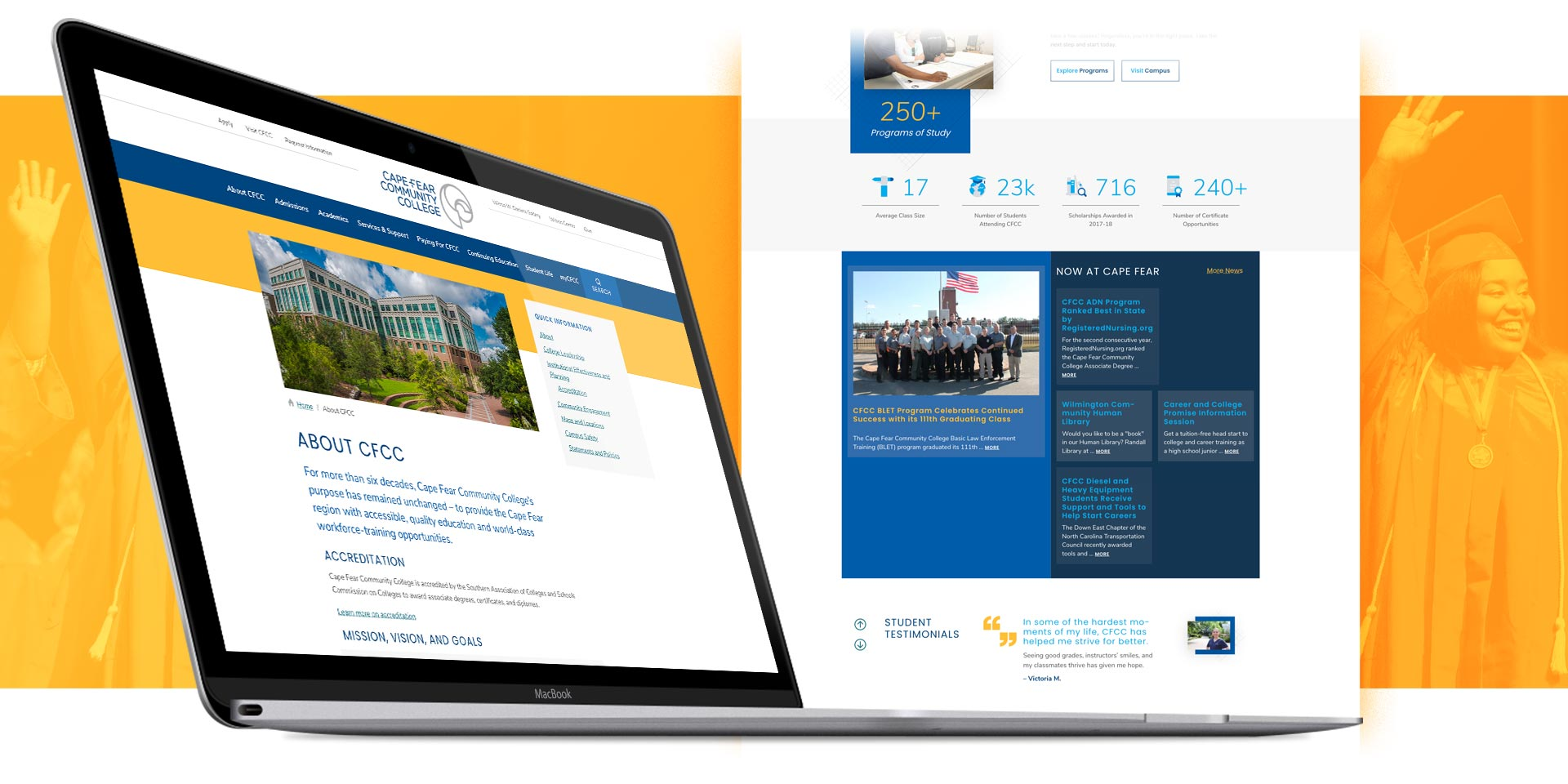 Cape Fear Community College - Website Design by Springer Studios, Wilmington, NC