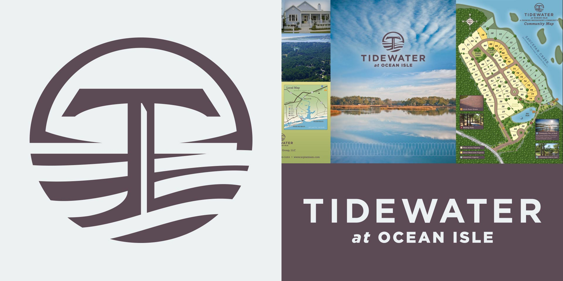 Tidewater Real Estate - Brand Identity by Springer Studios, Wilmington, NC