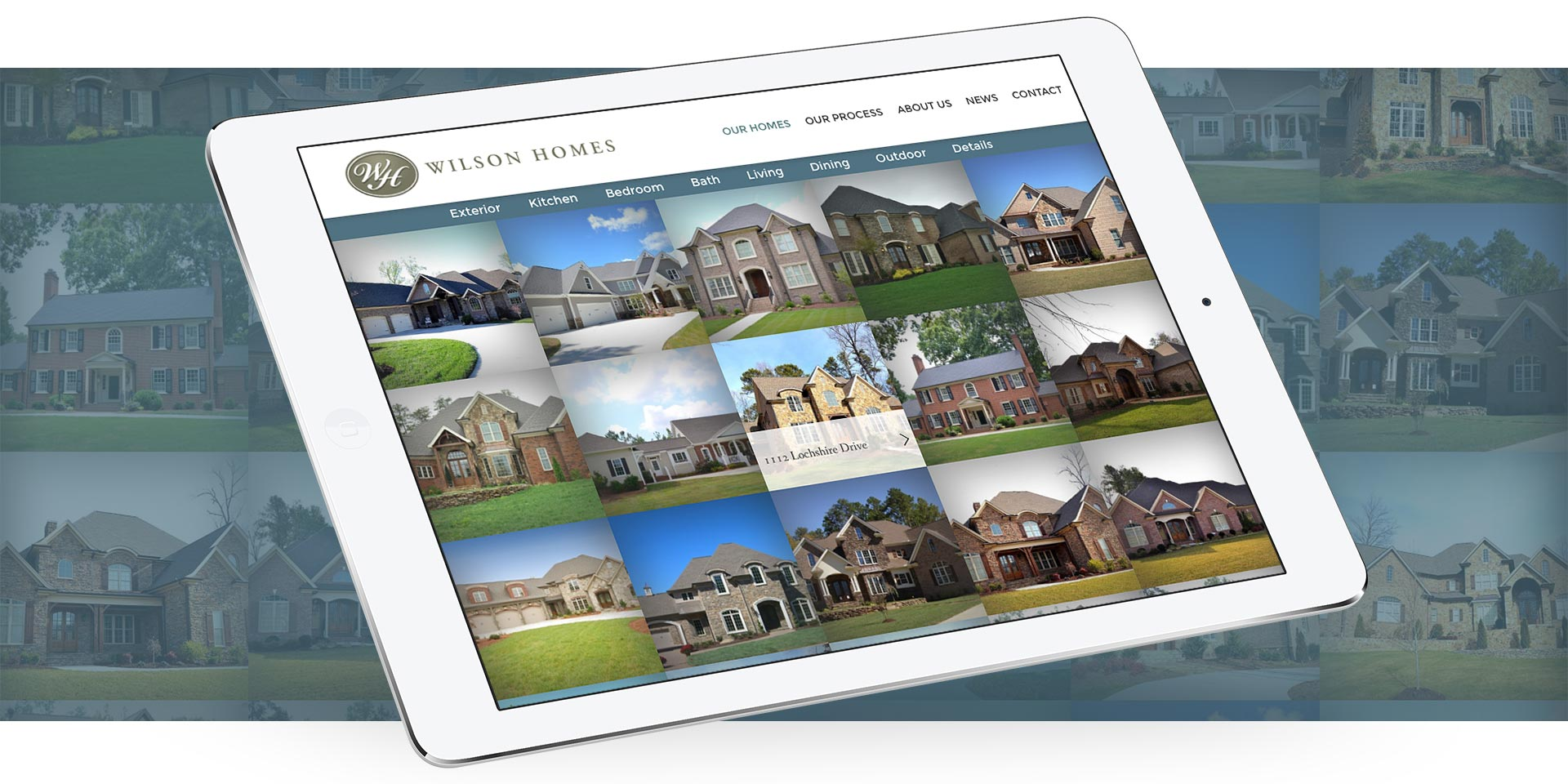 Wilson Homes - Website Design by Springer Studios, Wilmington, NC