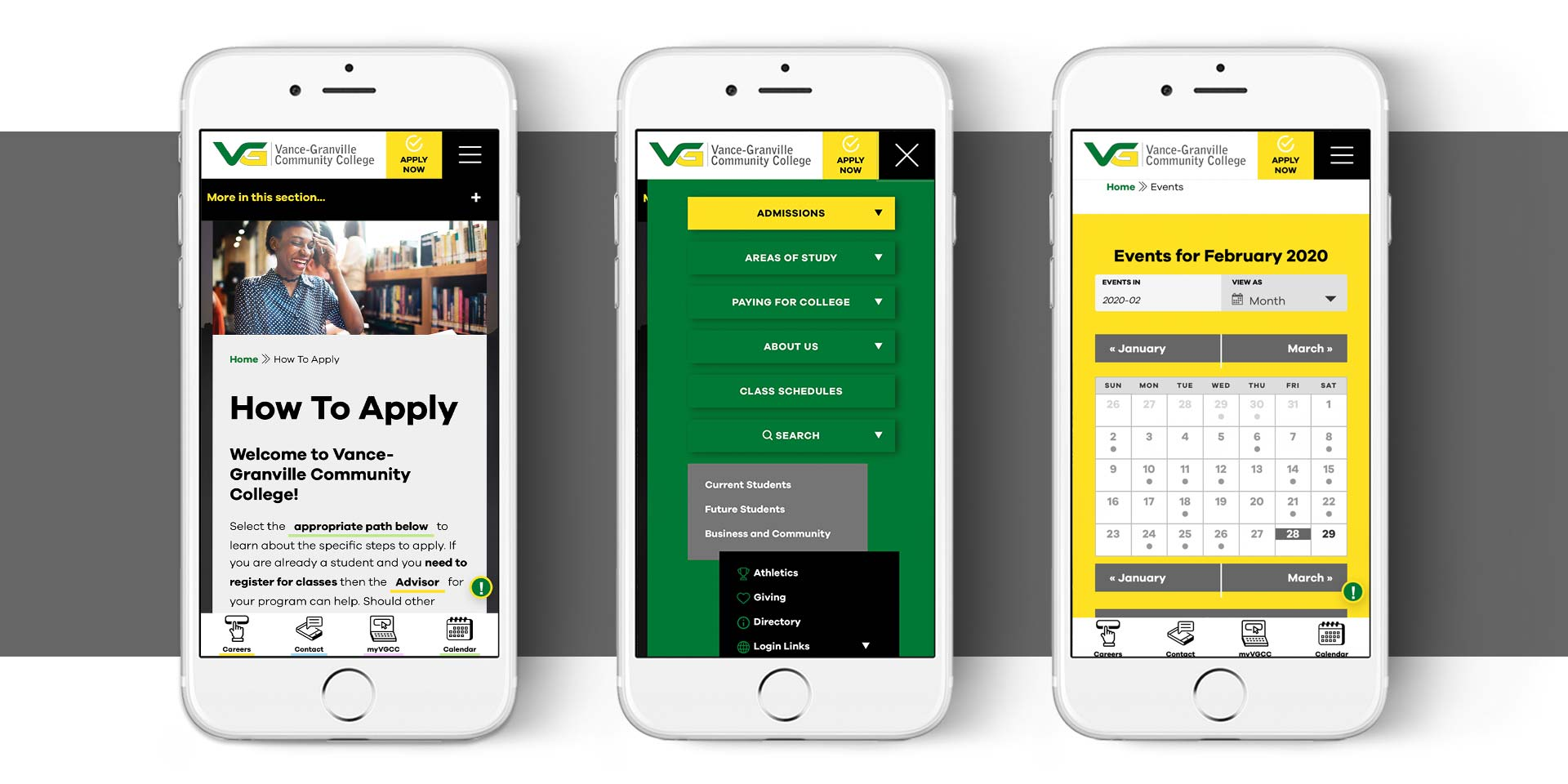 Vance Granville Community College - Website Design by Springer Studios, Wilmington, NC