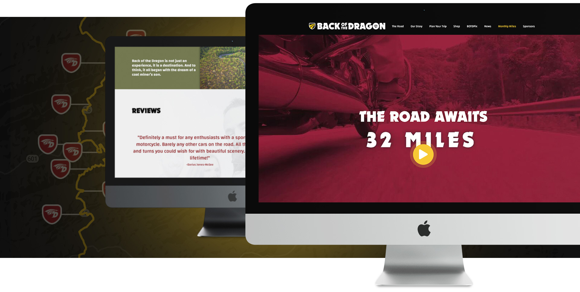 Back of the Dragon - Website Design by Springer Studios, Wilmington, NC
