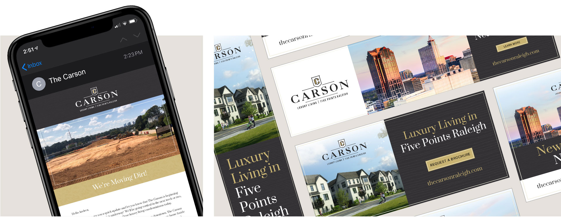 The Carson - Email Marketing by Springer Studios, Raleigh, NC