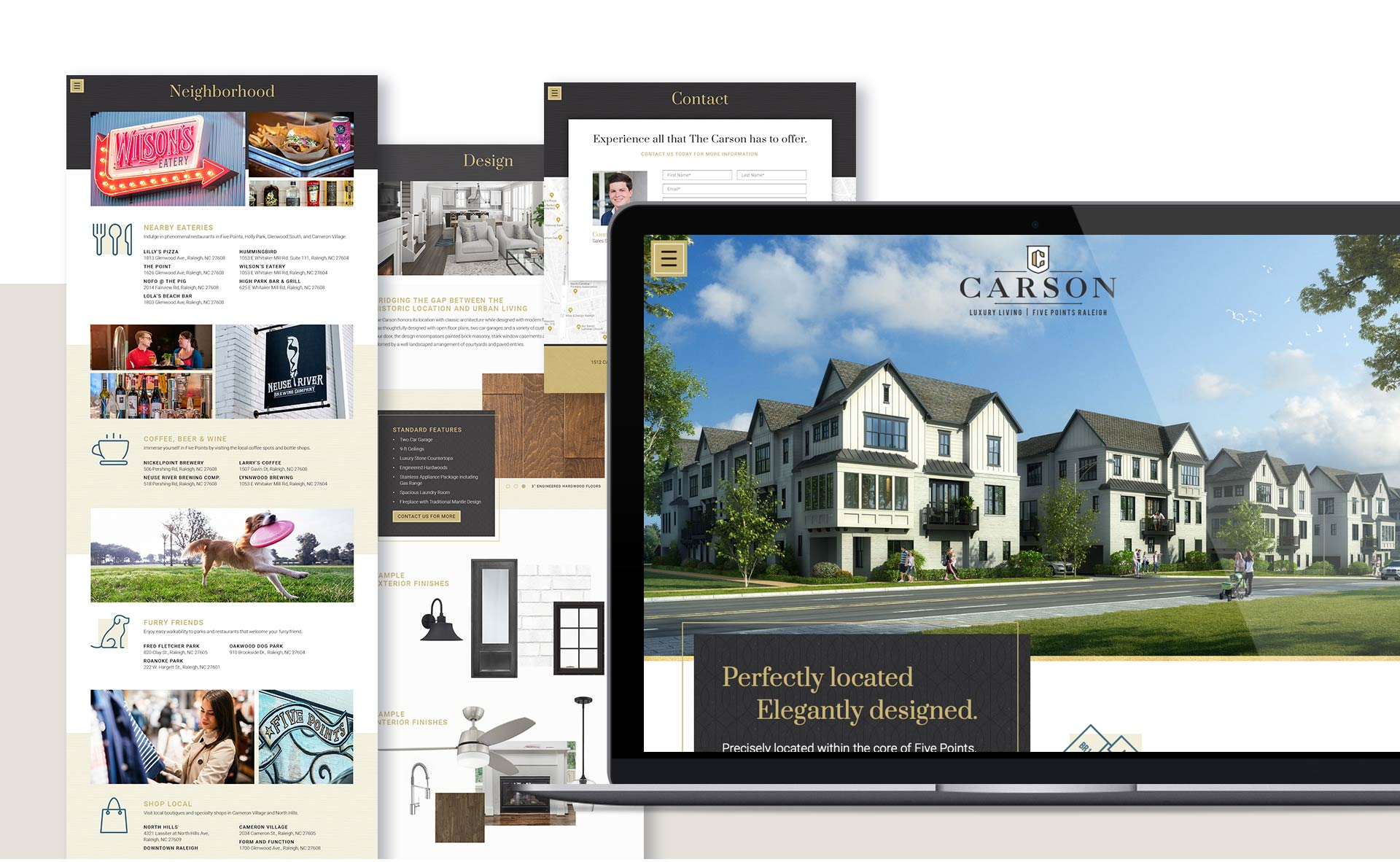 The Carson - Website Design by Springer Studios, Raleigh, NC