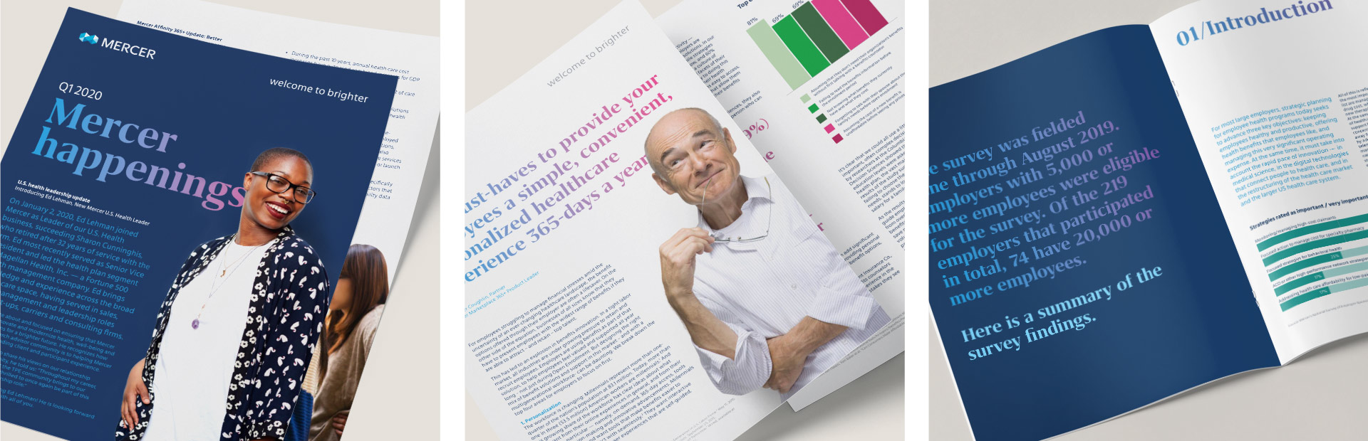 Mercer Health - Print Marketing by Springer Studios, Raleigh, NC