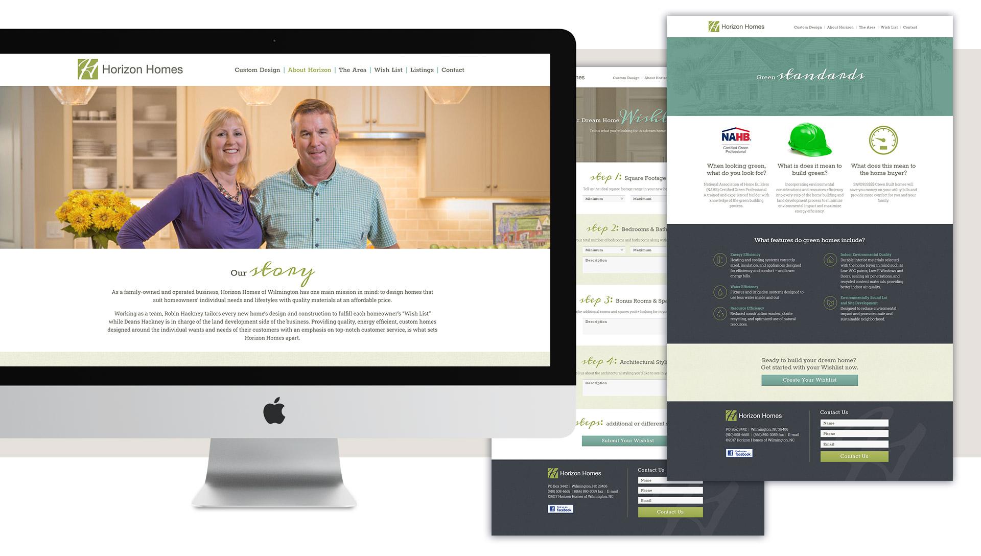 Horizon Homes - Website Design by Springer Studios, Wilmington, NC